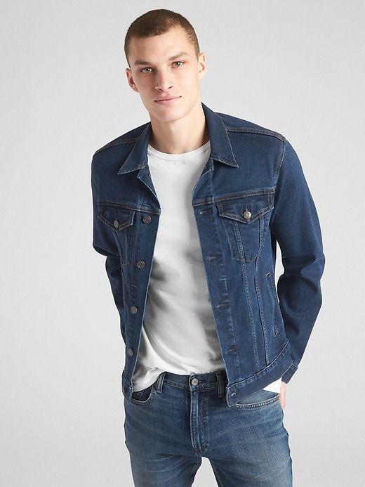 in stock most popular new design Gap Mens Soft Wear Icon Denim Jacket Dark Rinse | Men's coats and ...