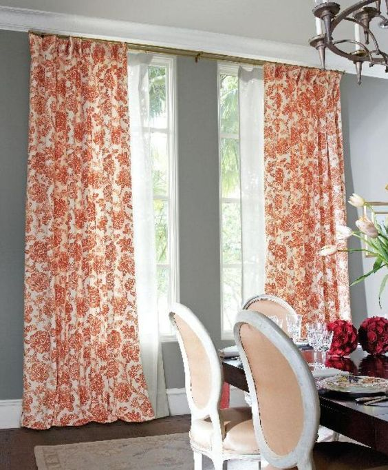 Love the color of the curtains... thinking of using something like this for the curtains in my Florida room.