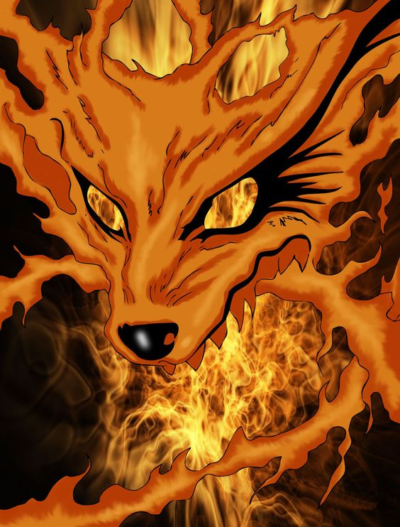 Naruto 9 tail drawing colored google search kyubi - Naruto renard ...