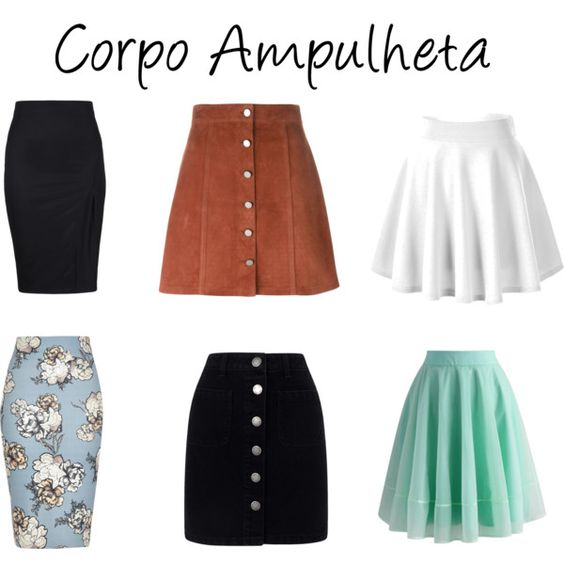 Corpo ampulheta - saia by leticia-zamolo-duque on Polyvore featuring moda, Theory, Miss Selfridge, Chicwish and River Island