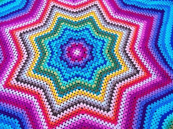 colcha estrela em crochet star blanket croche9