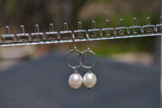 Modern Pearl Earrings by NuttreeDesignJewelry on Etsy