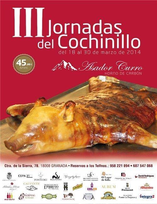 Marqués de Terán participa el 20 de marzo con 3 de sus vinos en las prestigiosas terceras jornadas del cochinillo en el Asador Curro de Granada