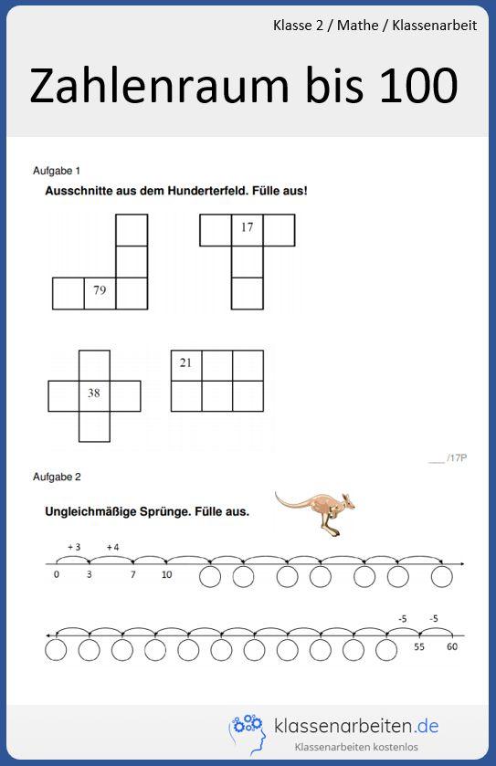Kostenlose Klassenarbeit Zum Ausdrucken Hier Findest Du Kostenlos Originale Prufungsaufgaben Mit Losungen Zur Vorbereit Klassenarbeiten Zahlenraum Mathe Test