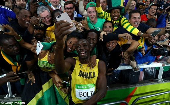 Usain Bolt is still celebrating winning three gold medals at the Olympic Games…