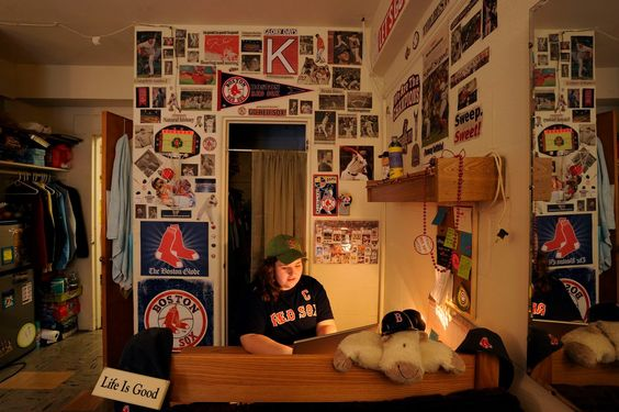 Red Sox Dorm Room - Simmons College