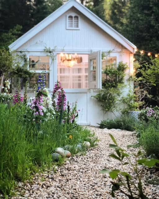 French Country Fridays Foxgloves In A Cottage Garden In 2020