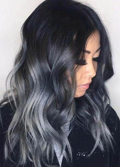 Dark Hair Colors Deep Grey Hair Colors Hairstyles Darkhair