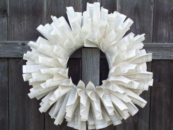 Book Wreath: Kipling Stories  On etsy.com FallingPages