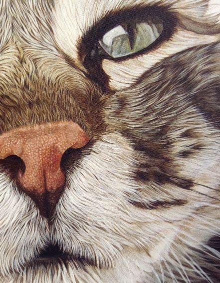 Ester Curini painting Elfo da Treville detail: