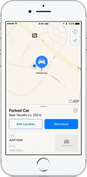iphone7-ios10-maps-parked-car