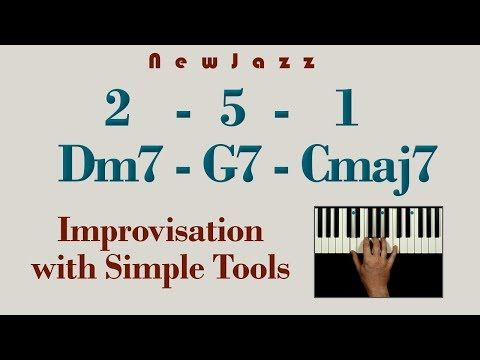 Easy 2 5 1 Jazz Improvisation With Pentatonic Scale Youtube Jazz Piano Piano Lessons Improvisation