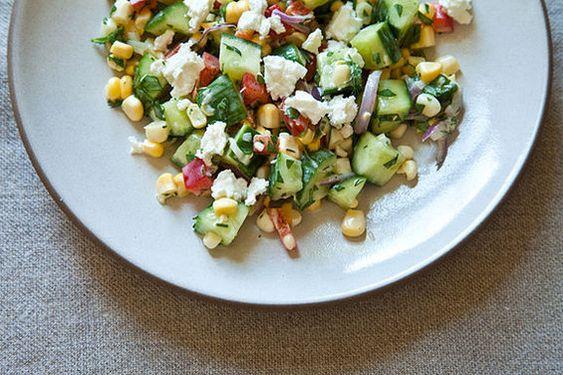 dilled . crunchy sweet-corn salad w/ buttermilk dressing ++ food52