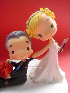 Wedding cake topper.