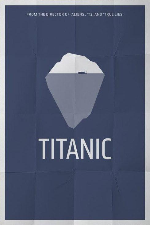 Titanic affiche film minimaliste affiches graphiques for Affiche minimaliste