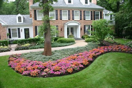 Nice front flower garden