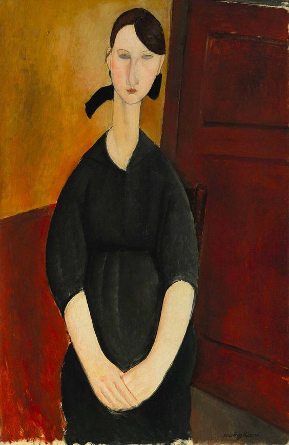 Amedeo Modigliani (Italian, 1884-1920) Portrait of Paulette Jourdain, 1919