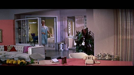 doris day's wonderfully over the top feminine but retro apartment :) i am not sure that i would want this, but i love this movie and her perfectly put together pajamas