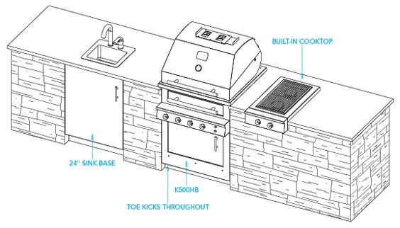 Sample Outdoor Kitchen Plan Havana Layout For The Home Pinterest Outdoor Kitchen Plans