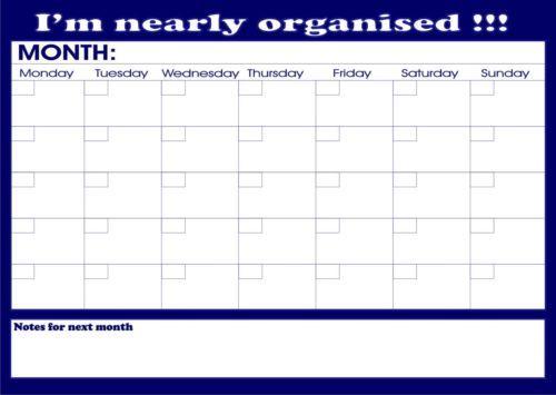 Large A Monthly Planner Student OrganiserHomeworkCalendar