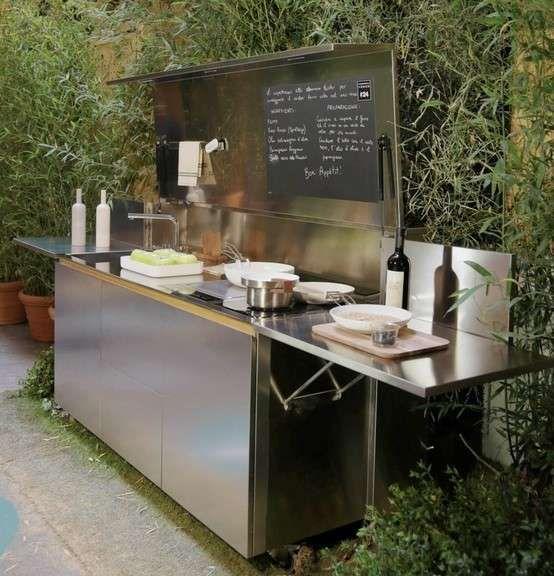 Cucine da esterno - Tutto in un solo elemento