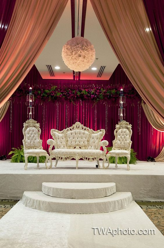 Stage Decoration For A Wedding