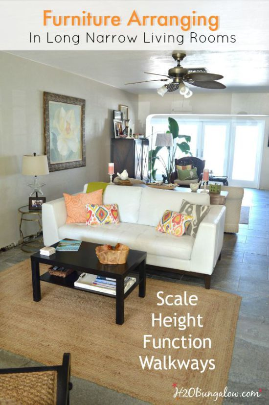 Arranging Furniture Beautiful Space And Narrow Living Room On Pinterest