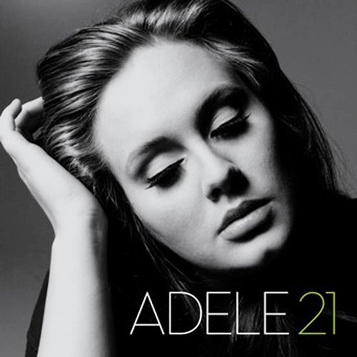 "THIS ALBUM COVER CAPTURED MY INTEREST BECAUSE OF ITS SIMPLICITY AND ALSO THE BLACK AND WHITE EFFECT AND ALSO BECAUSE OF THE STAR POWER ""ADELE"" AND HOW THE PHOTOGRAPHER MADE HER APPEAR NATURAL."
