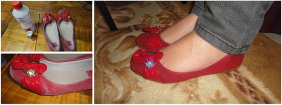 Álcool + tinta para tecido = calçado novo.