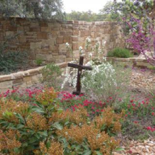 Prayer garden at First Baptist Church in Boerne Tx