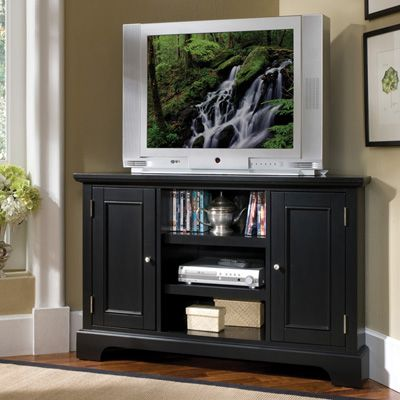 Home Styles Bedford 46-Inch Corner TV Stand