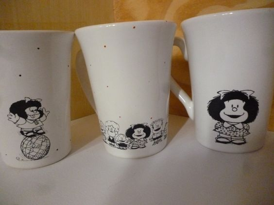 Tazas Mafalda - Combo Por Dos - $ 120,00 en MercadoLibre