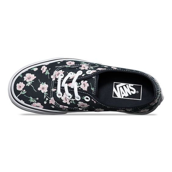 Vans Women's Vintage Floral Authentic Shoes - Blue Graphite