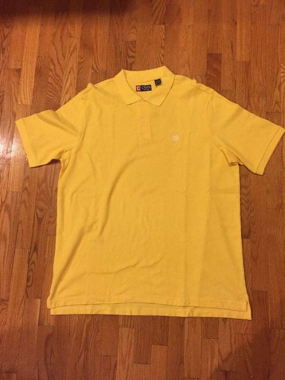 NWOT CHAPS EST. 1978 Men's Polo Shirt 3XT/3TGL Yellow Color Short Sleeve #Chaps…