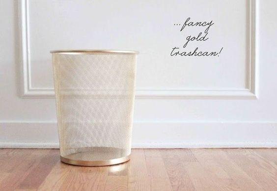 Haz lo mismo con una de esas papeleras baratas de IKEA.   33 formas en que la pintura en aerosol puede hacer lucir más caras tus cosas