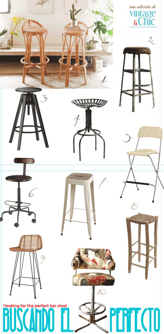 Taburetes altos bar stools industrial vintage ca a madera for Bancos para cocina ikea