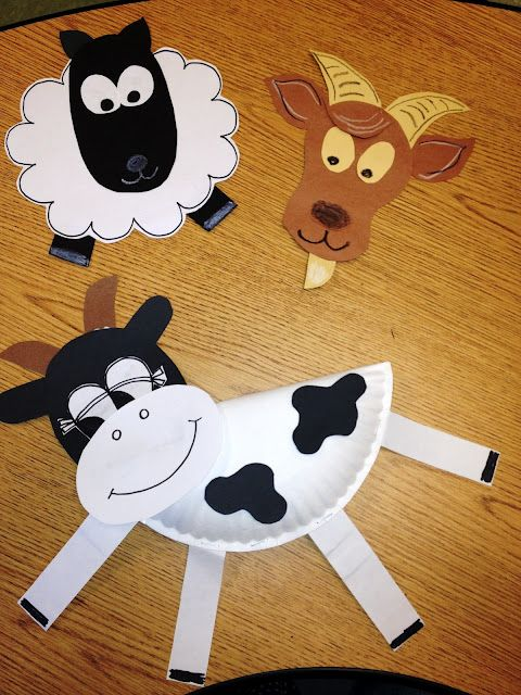 Farm animals another cute craft for party activity farm for Farm animal crafts for preschool