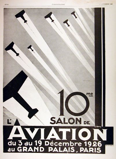 1926 salon de l 39 aviation original vintage french - Salon art deco paris ...