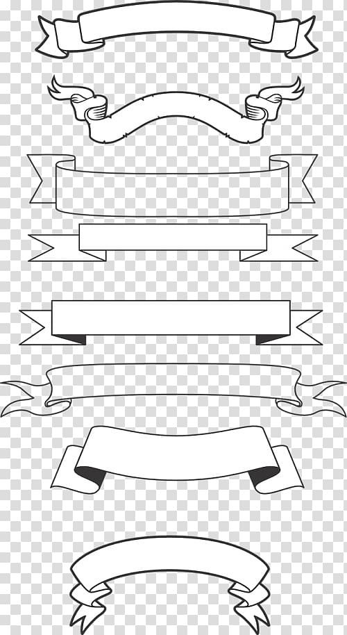Banner Png Black And White : banner, black, white, Graphics, Banner, Drawing,, Ribbon, Transparent, Background, Clipart, Chalk, Markers
