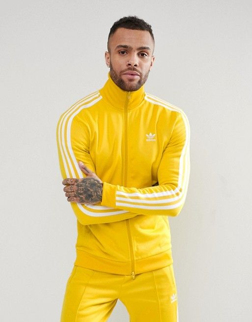 100% high quality outlet boutique outlet adidas Originals adicolor Beckenbauer Track Jacket In Yellow ...
