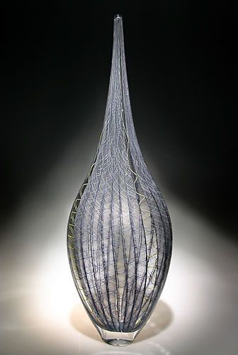 Zanfirico Resistenza created by #artist David Patchen. #oneofakind This tall elegant work from Patchen's Resistenza series is made from zanfirico cane, a technique that involves creating vessels out of highly patterned glass rods. @Artful Home