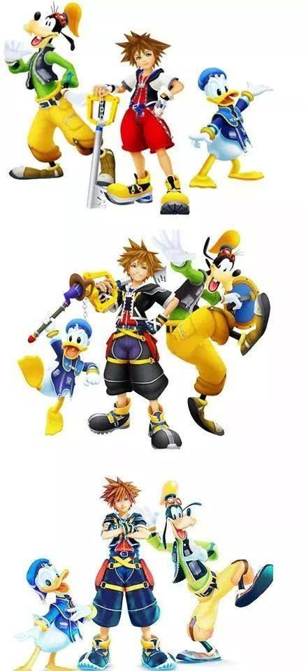 Kingdom Hearts through the ages!