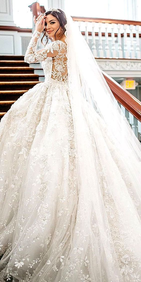 30 Chic Long Sleeve Wedding Dresses ❤ See more: http://www.weddingforward.com/long-sleeved-wedding-dresses/ #wedding #dresses