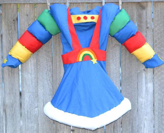 Vintage Halloween Costume Rainbow Brite Handmade Girls 6 to 7. $85.00, via Etsy.