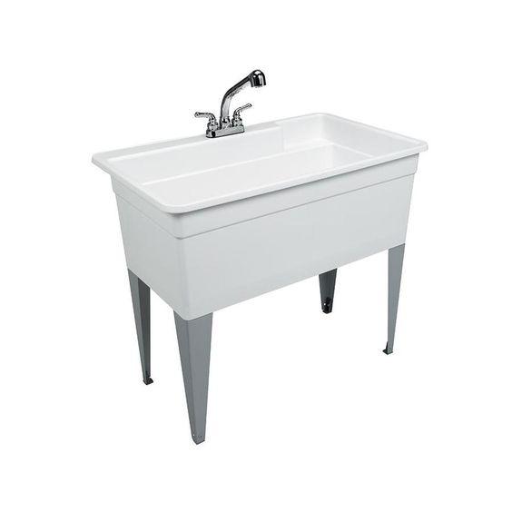 Cashel Heavy Duty Utility Sink Kit Free Standing Utility Sink
