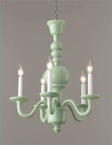 :: jadeite chandelier ::