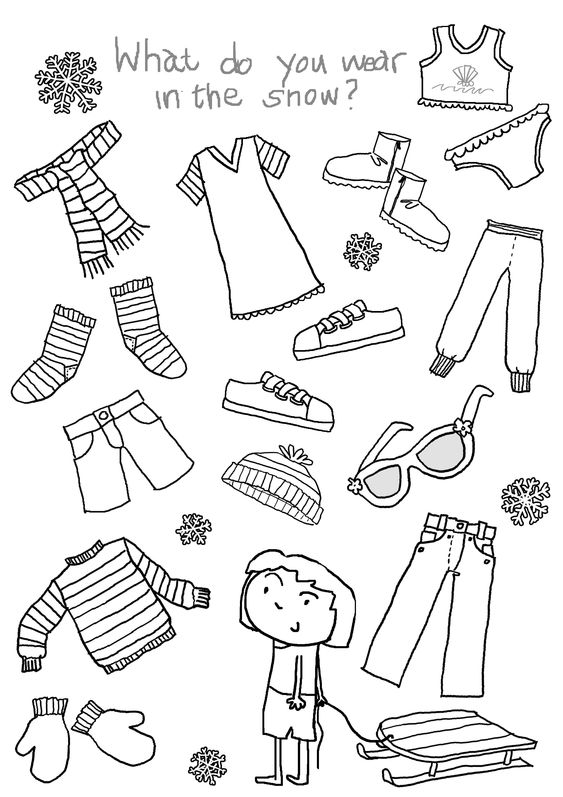 clothing and more worksheets clothes esl what to wear the snow google
