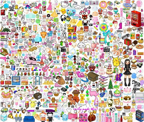 This is really a crazy collage of everything cute!!