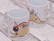 Einhorn-Hopsmops, Mopstasse, Mops, Unicorn