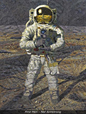 Alan Bean , astronaut and artist ; will probably be my favorite American artist when I leave this world.